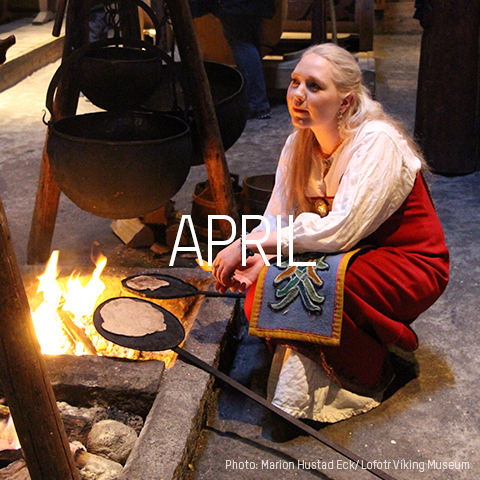 April MHE Lofotr Vikingmuseum