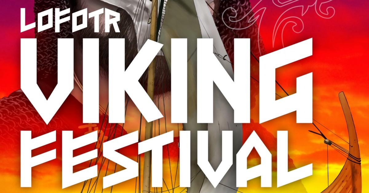 Utsnitt av festivalplakat Lofotr Vikingfestival 2019. God strek.